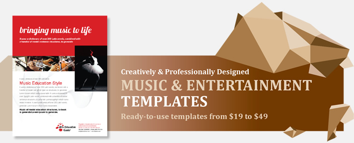 Professional Music and Entertainment Templates