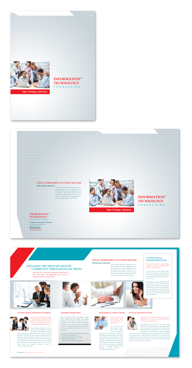 Information technology consultants brochure template for Technology brochure templates