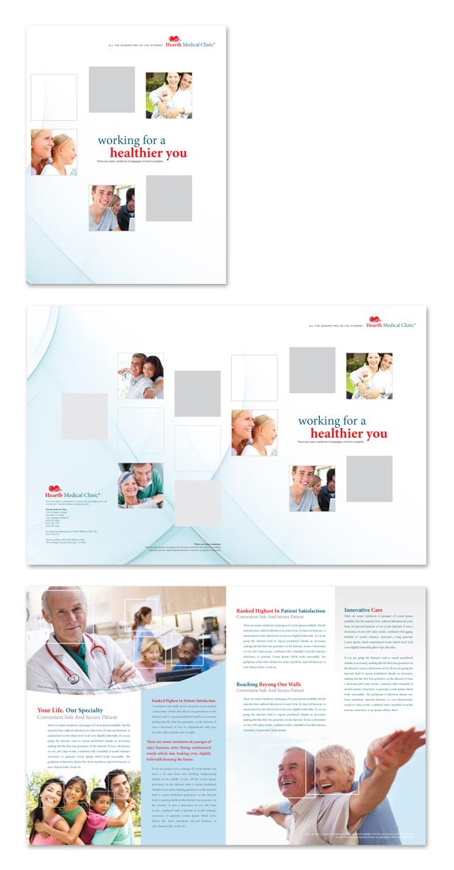 clinic brochure template - medical clinic brochure template