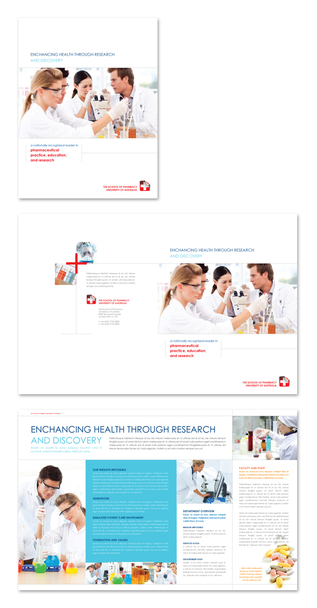 pharmacy brochure template - pharmacy school brochure template