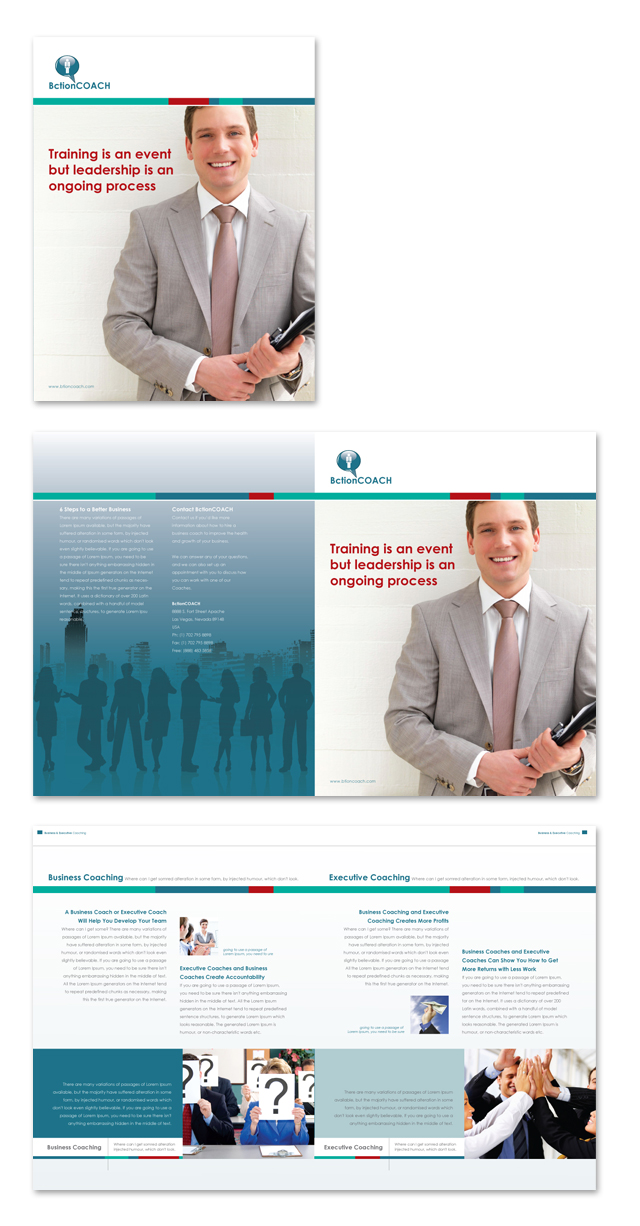 business coach executive coach brochure template