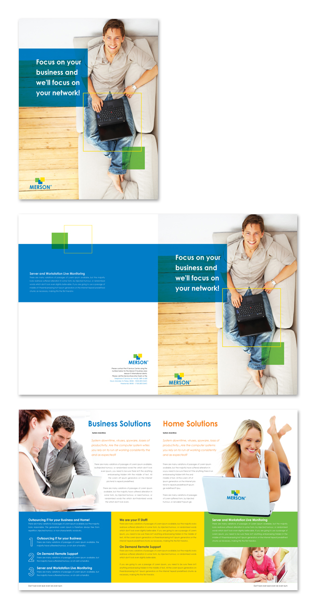 Computer services consulting brochure template for It services brochure template