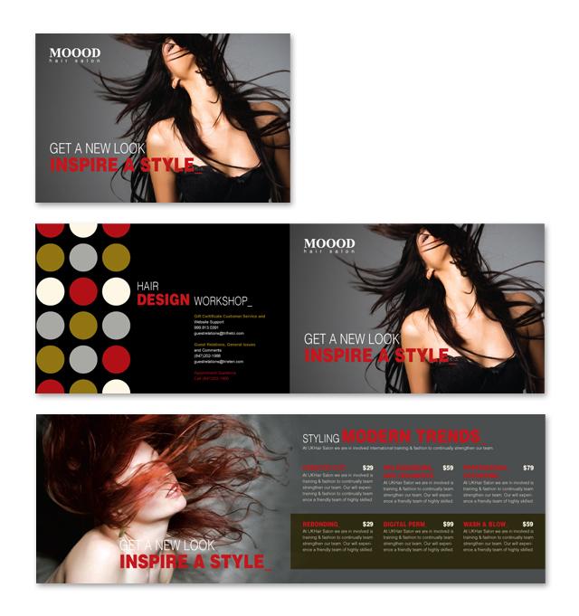 Hair Stylist Salon Brochure Template