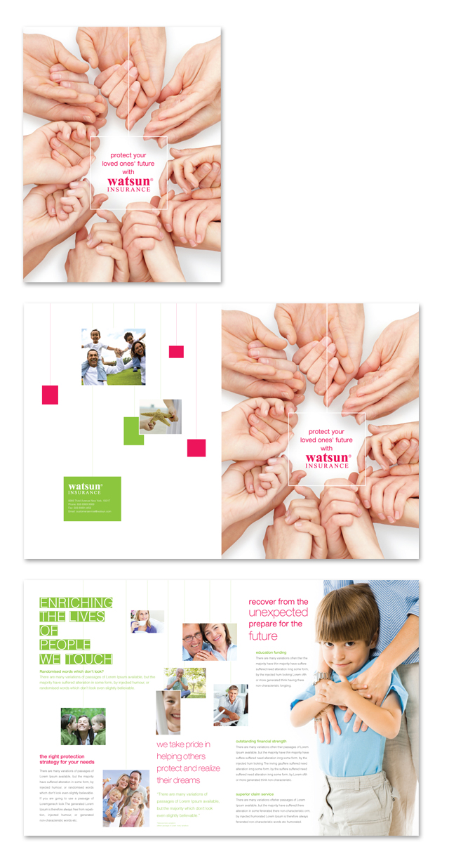 Life Insurance Company Brochure Template