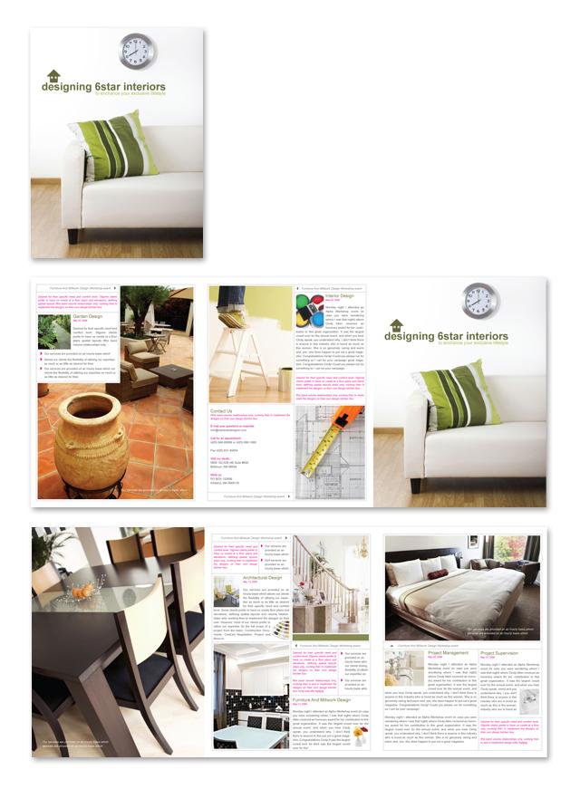 Interior Design & Home Builder Brochure Template