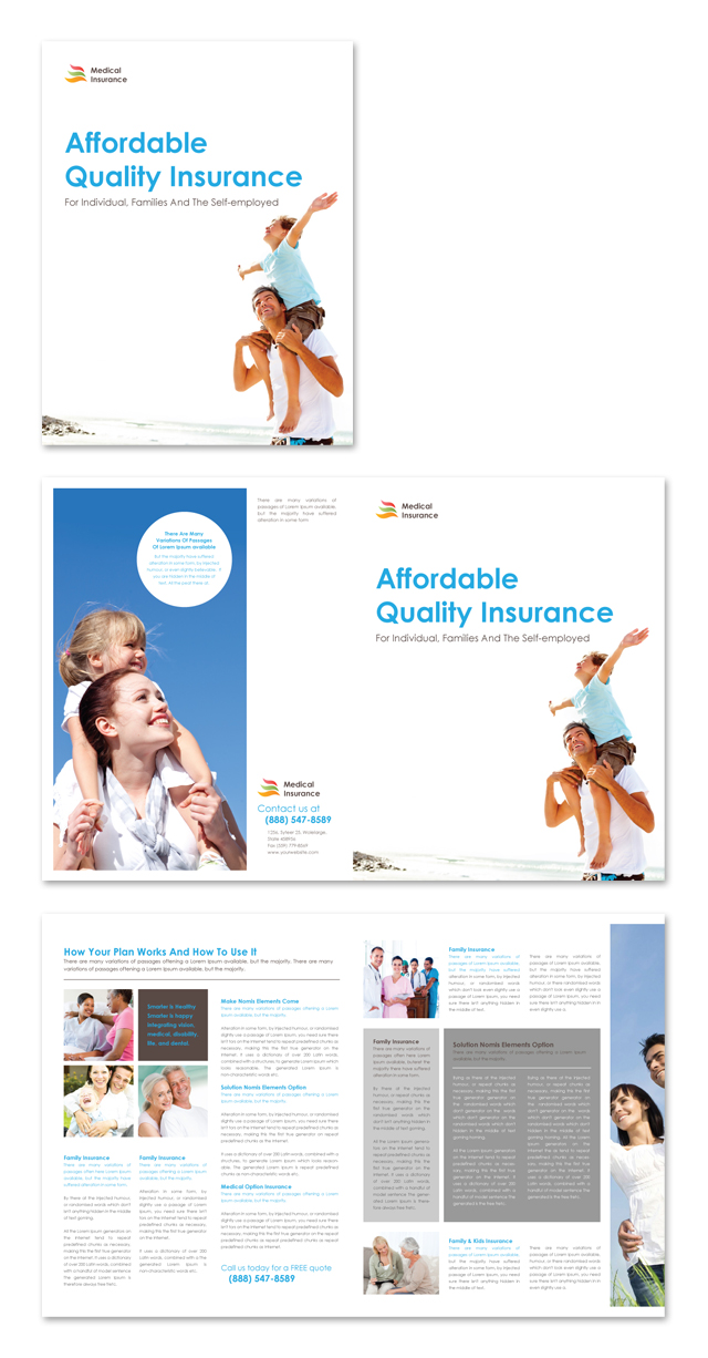 Medical Insurance Company Brochure Template - Insurance brochure template