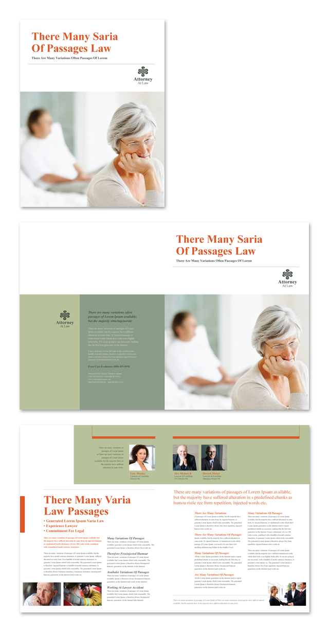 Attorney at law brochure template for Legal brochure template