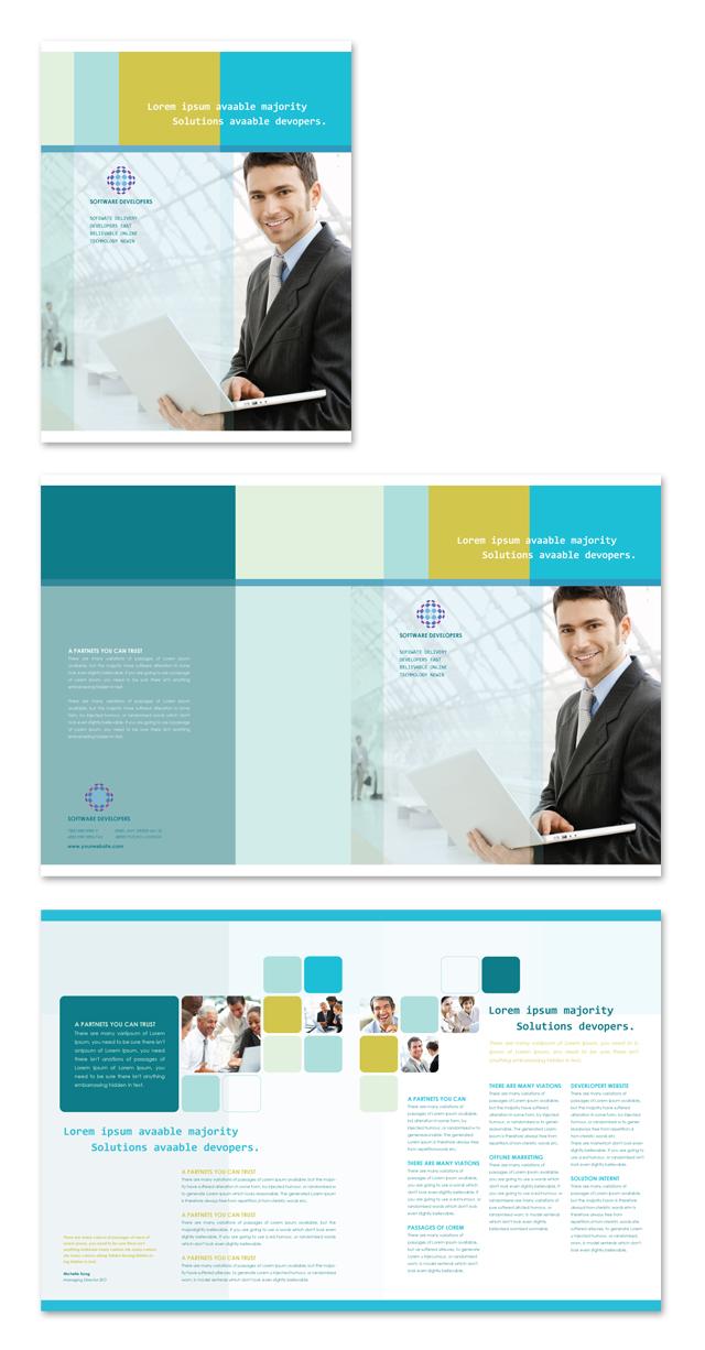 Software Developers Brochure Template