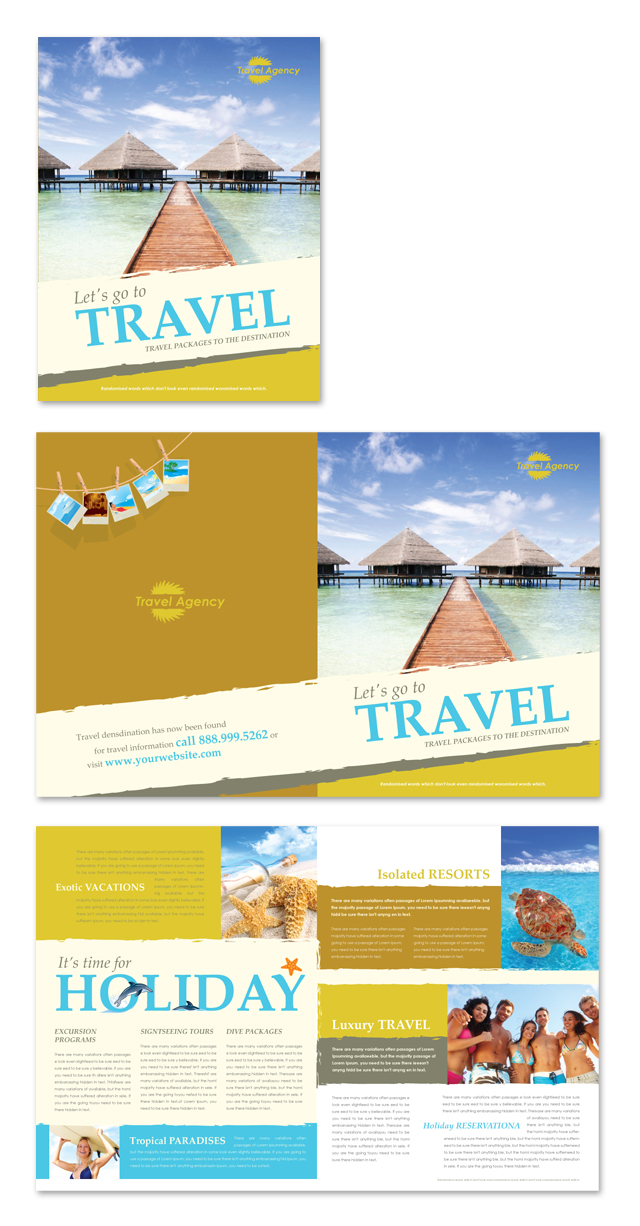 Travel agency brochure template dlayouts graphic design blog for Tourist brochure template