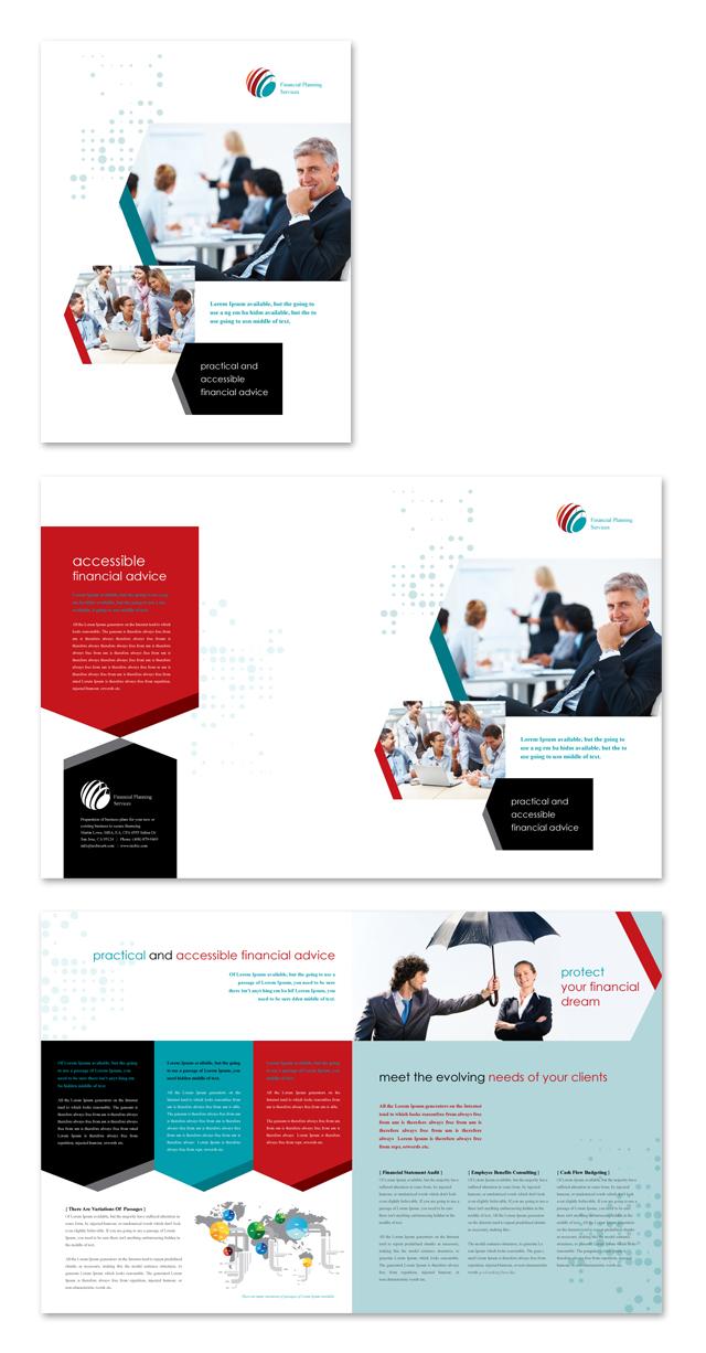 financial brochure templates - financial planning brochure template