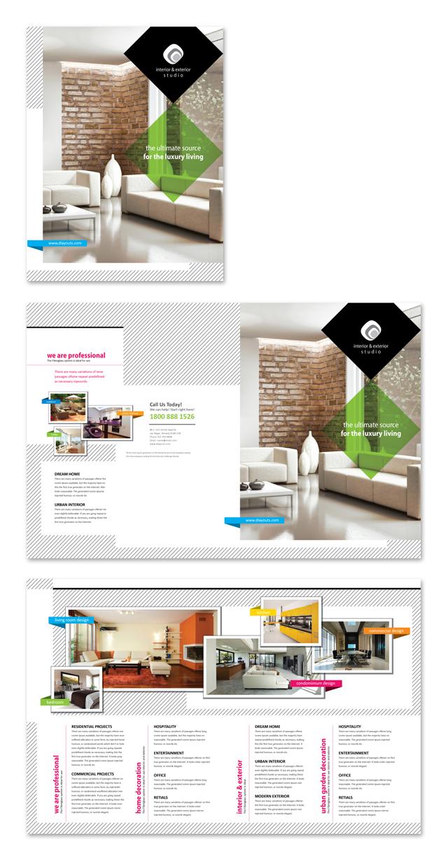 Interior & Exterior Studio Brochure Template