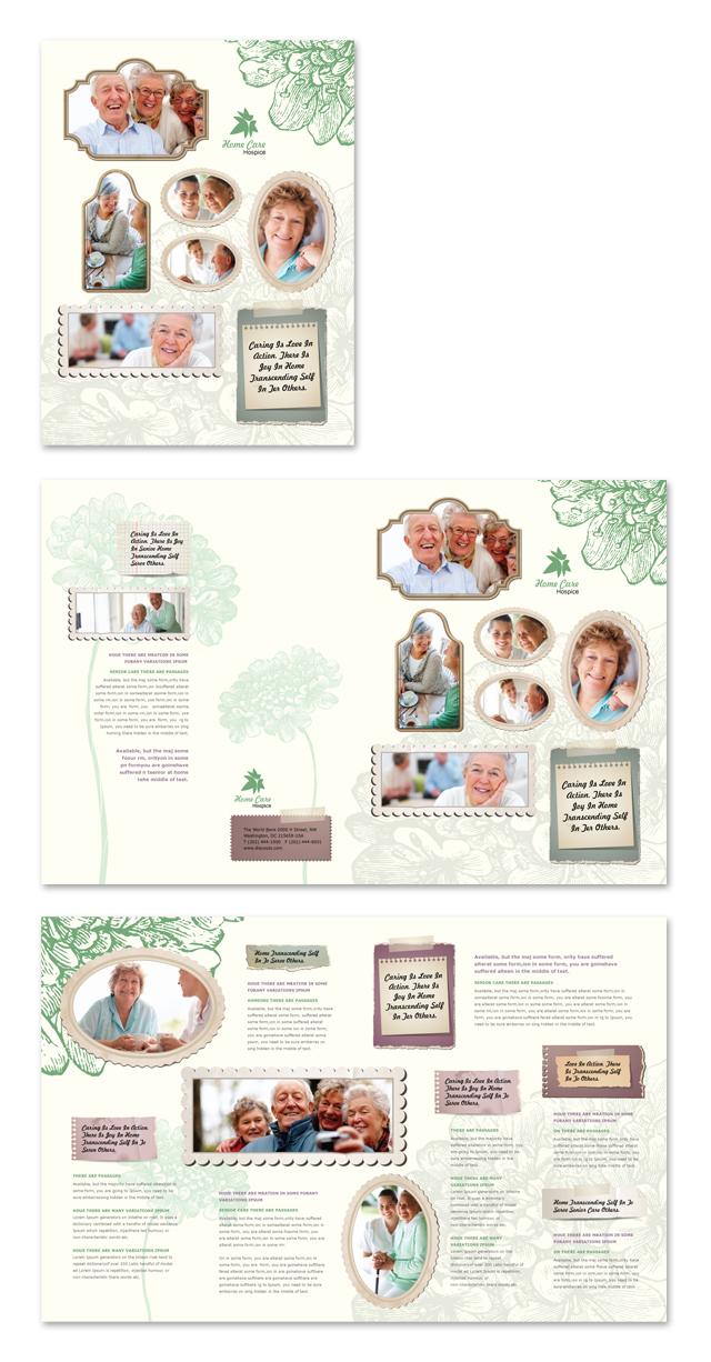 Home care brochure template for Home care brochure template