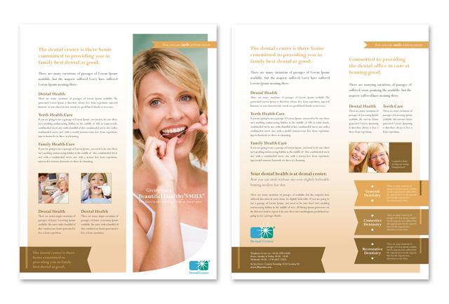 Family Dentistry Datasheet Template