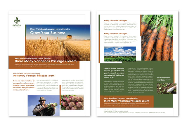 Farming & Agriculture Datasheet Template