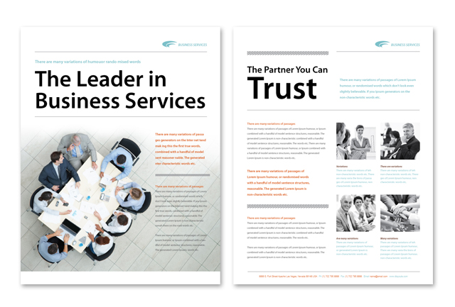 Business Services Datasheet Template