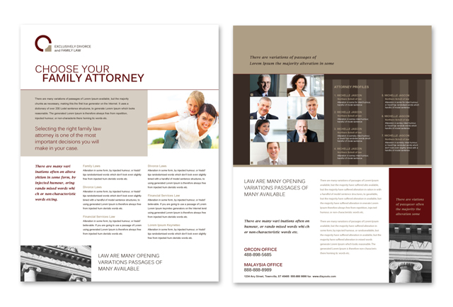 Family Law Datasheet Template