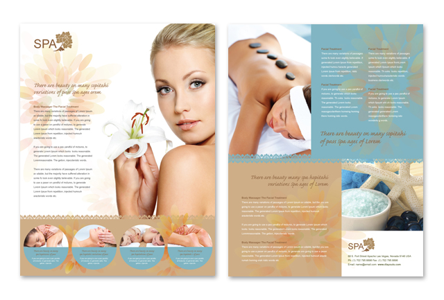 Spa Treatment Datasheet Template