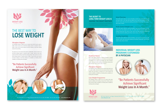 Weight Loss Center Datasheet Template
