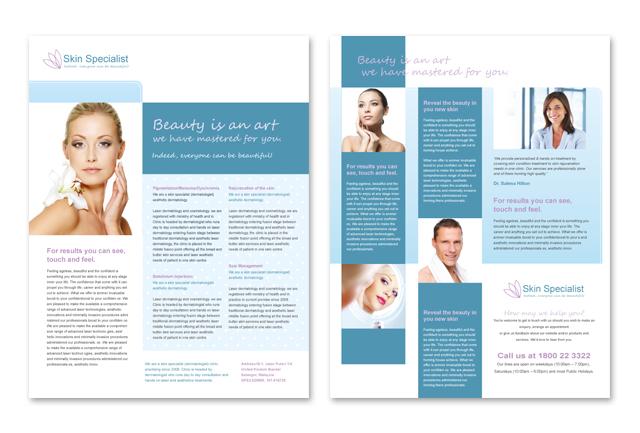 Skin Specialist Centre Datasheet Template