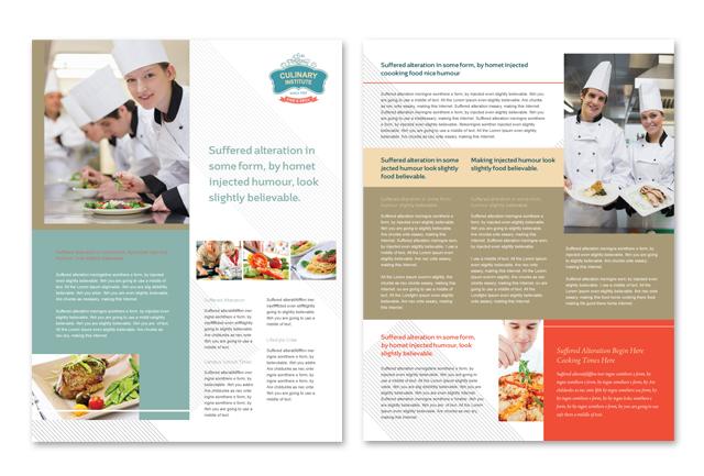 Culinary Institute Datasheet Template