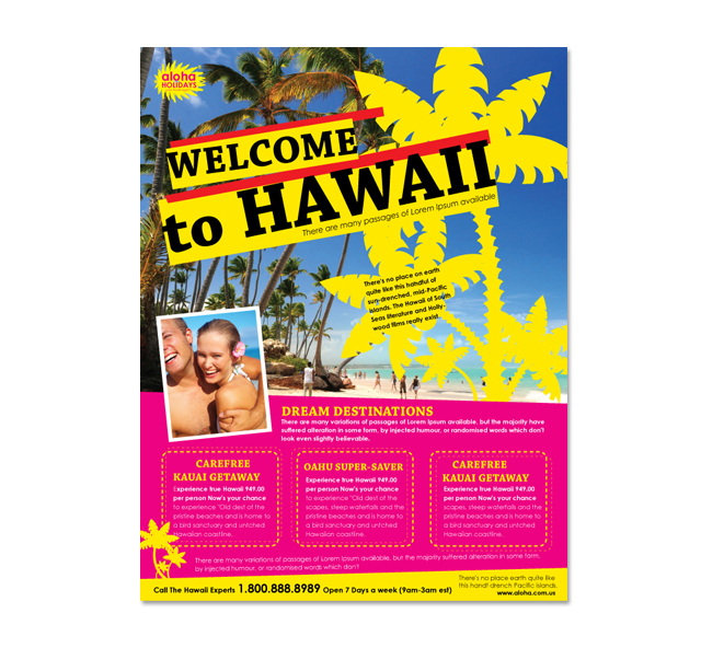 Hawaii Travel Agency Flyer Template