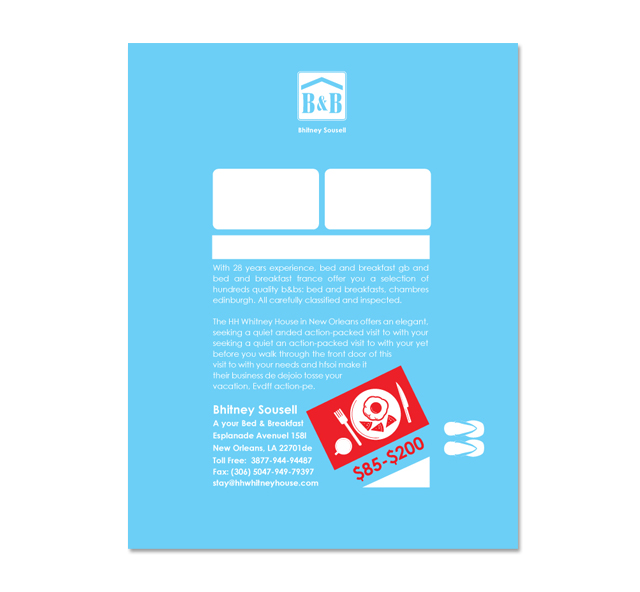 Bed & Breakfast Motel Flyer Template