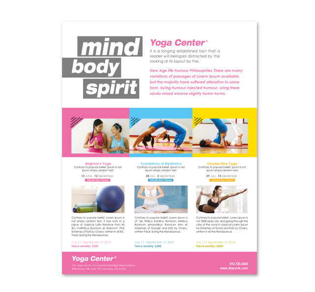 Download This Templates In Our Graphic River Store Yoga Class Flyer