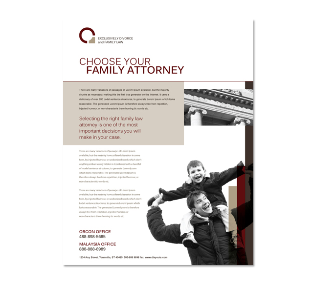Family Law Flyer Template