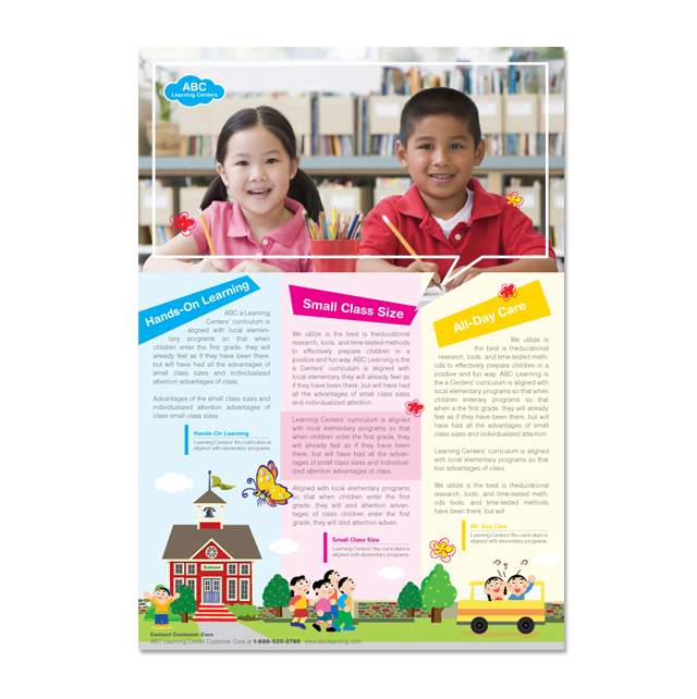Learning center school flyer template for School brochure template free
