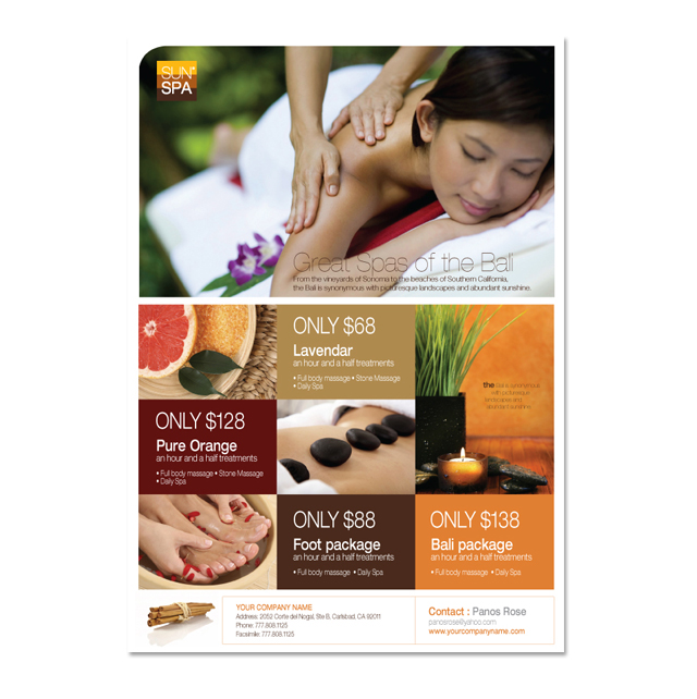 Beauty Spa Flyer Template DLayouts Graphic Design Blog - Spa brochure templates