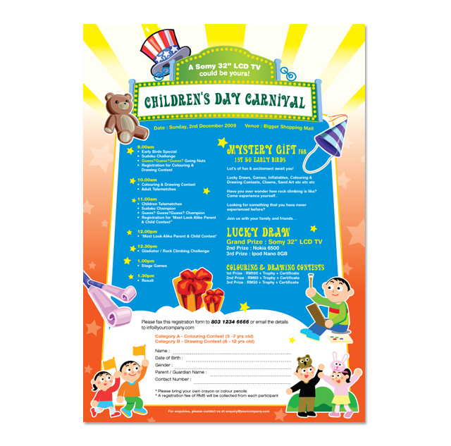 children s day carnival flyer template