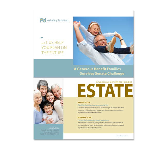 Estate Planning Flyer Template