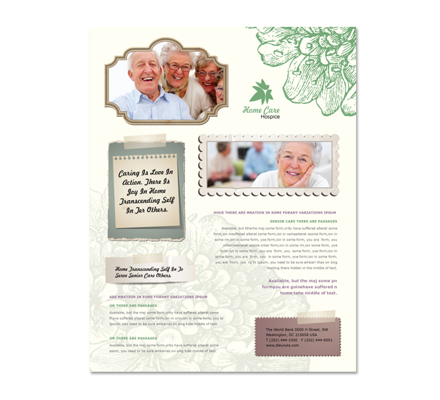 Home Care Flyer Template - Home care brochure template