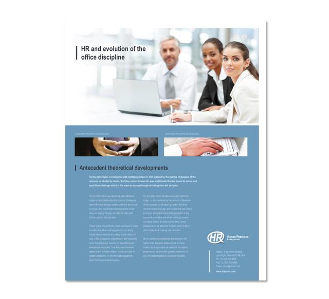 HR Management Flyer Template
