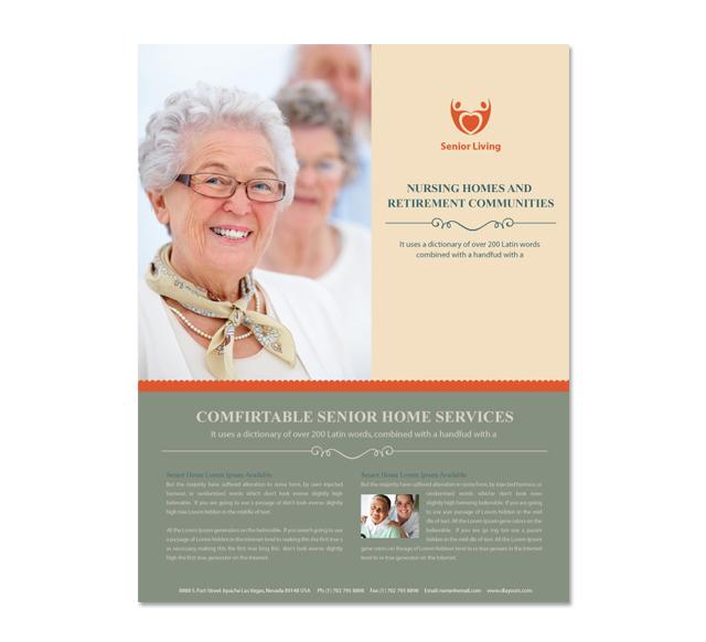 senior care service flyer templates .