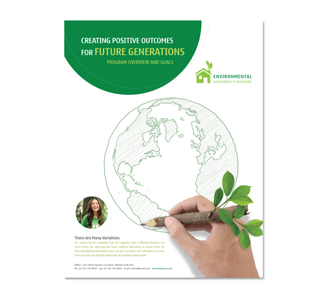 environment brochure template - environmental protection flyer template