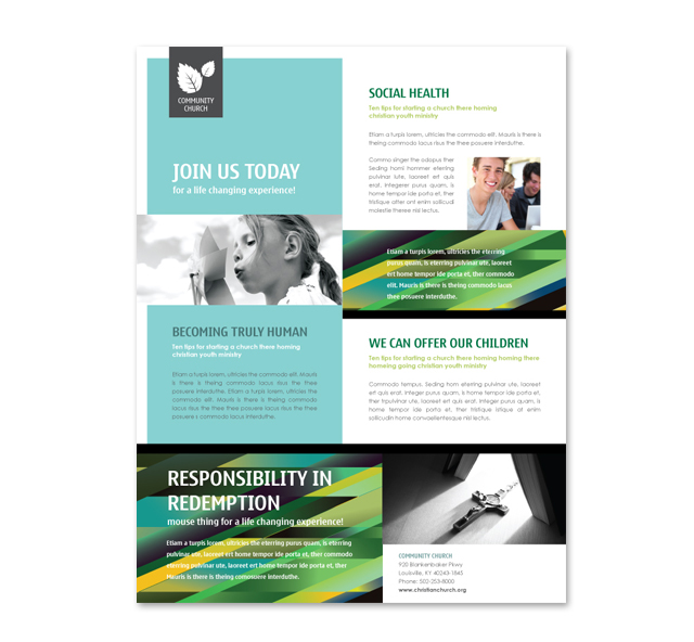 Christian Community Flyer Template