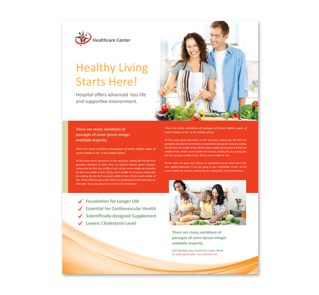 Healthcare Management Flyer Template – Health Brochure Template