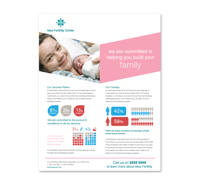 Hospital Flyer Template | Fertility Hospital Flyer Template