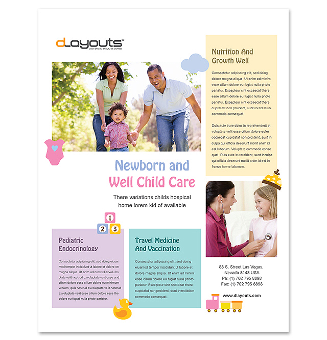 Child Care Specialists Flyer Template