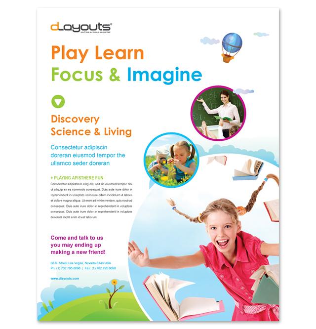 Child Education Center Flyer Template
