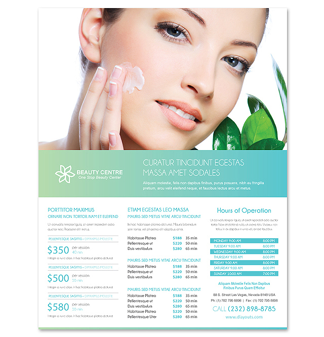 Beauty Spa Salon Flyer Template