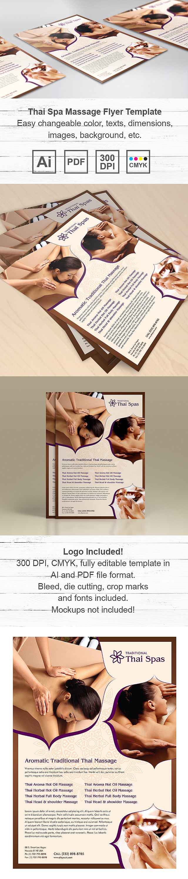 Thai Spa Massage Flyer Template