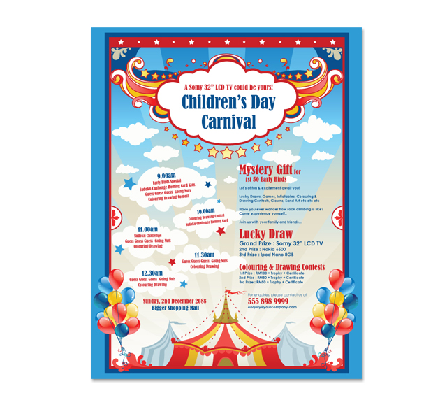 carnival flyers templates gala kidneycare co