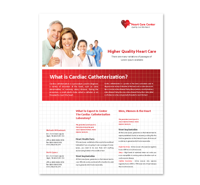 Heart Care Center Flyer Template