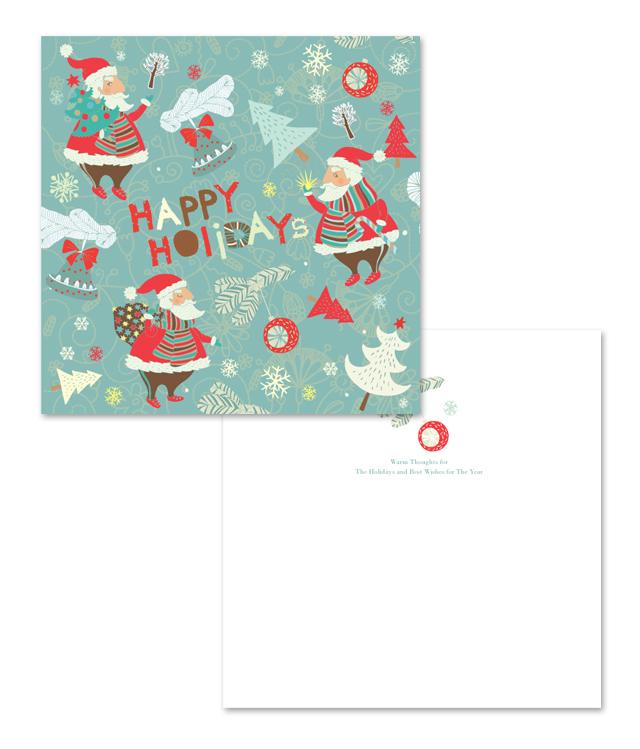 Warn Santa Claus Greeting Card Template