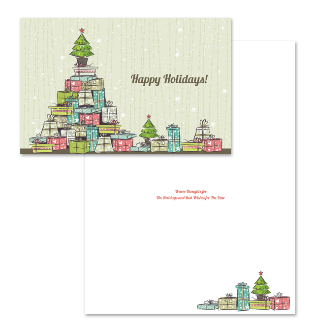 Commercial Christmas Greeting Card Template