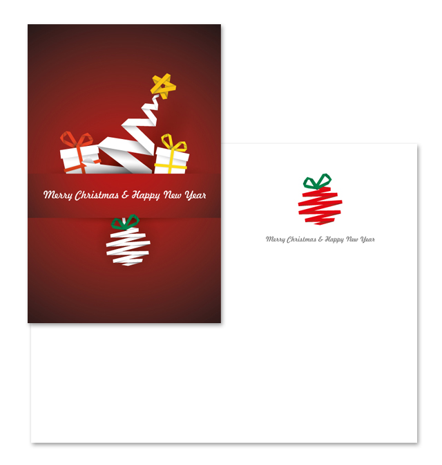 Red Xmas Greeting Card Template