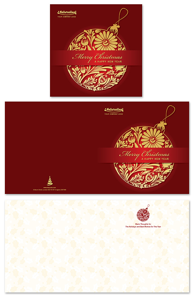 Christmas New Year Greeting Card Template
