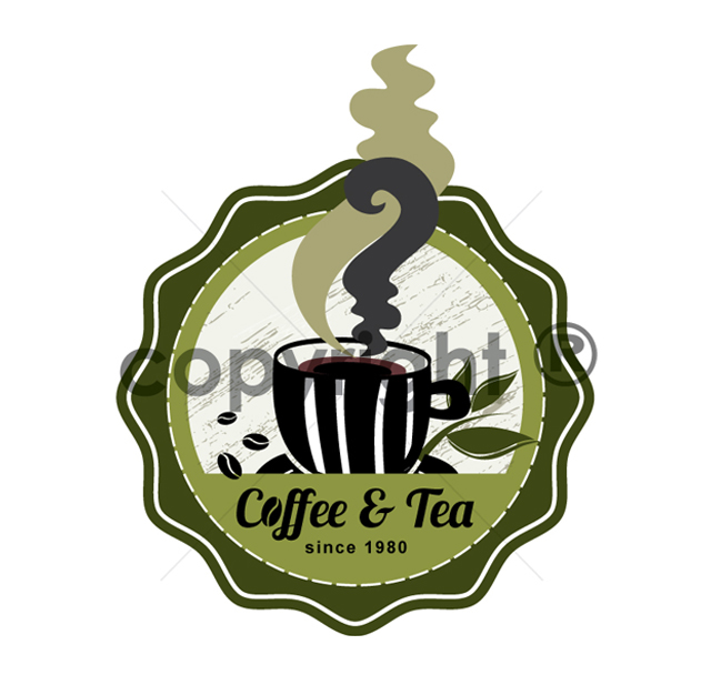 Coffee & Tea Cafe Logo Template